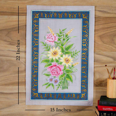 Symphony of Flowers Silk Painting
