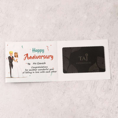 Taj Experiences 5000 INR Personalized Anniversary Gift Card