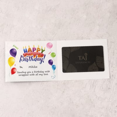Taj Experiences 5000 INR Personalized Birthday Gift Card Send And Cards Gifts OnlineM11065792