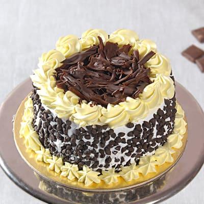 Tasty Shaped Black Forest Cake (Eggless) (1 Kg)