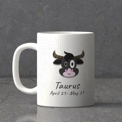 Taurus Sun Sign Birthday Mug