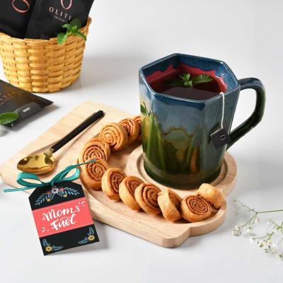 Tea and Snacks Hamper with Mug for Mom