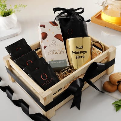 Tea Hamper - Customized With Message