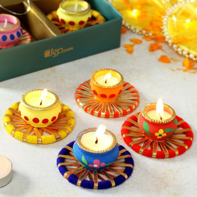 Tea-light Candles with Platters