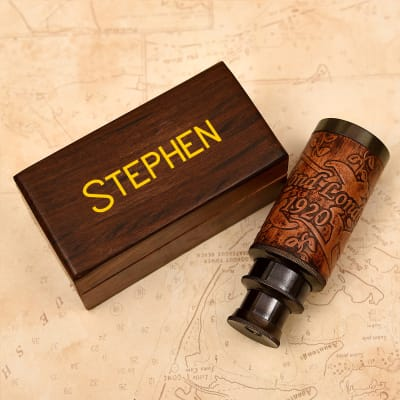 Telescope (6 inch) in Personalized Wooden Box for Birthday