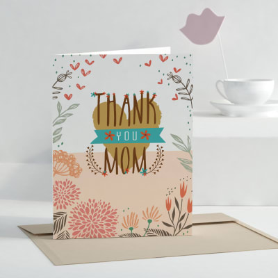 Thank You Mom Personalized Greeting Card