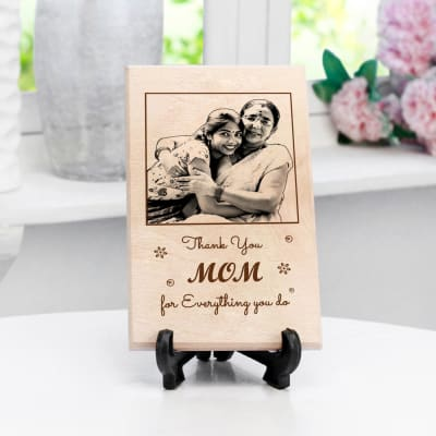 Thank you Mom Personalized Wooden Photo Frame