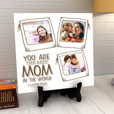 Send mothers day gifts to delhi gifts for mother in delhi igp the best mom personalized tile negle Image collections
