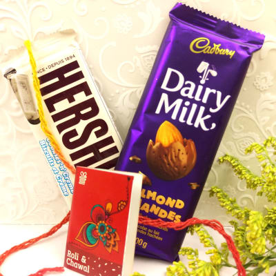 Tikka with Hersheys Bar & Almond Dairy Milk Chocolate