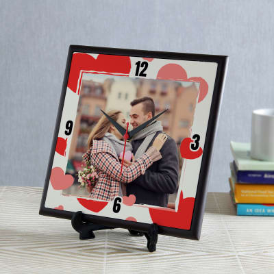Time to Love Personalized Square Clock