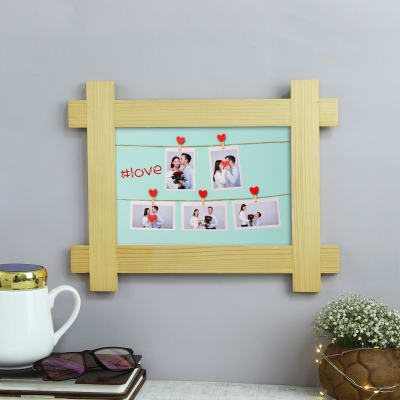 Timeless Love Personalized Wooden Photo Frame