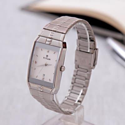 Titan Silver Wrist Watch