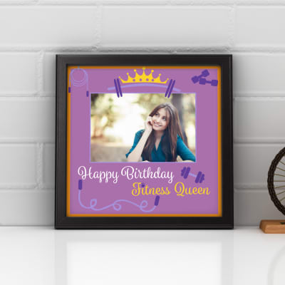 To the Fitness Queen Personalized Birthday Photo Frame: Gift/Send ...