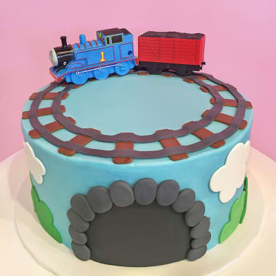 Toy Train Fondant Cake (4 Kg)