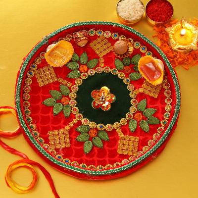 Traditional Bhaidooj Tikka Thali