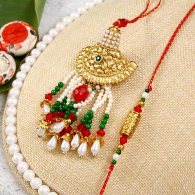 Traditional Bhaiya Bhabhi Rakhi  Set