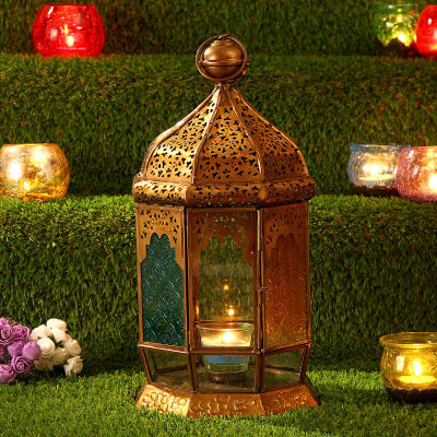 Traditional Copper Hanging Lantern