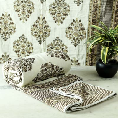 Traditional Motif Print Single Bed Dohar