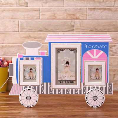 Train Engine Style 2-in-1 Personalized Photo Frame