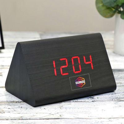 Trioka Modern Digital Clock with Alarm - Customized with Logo