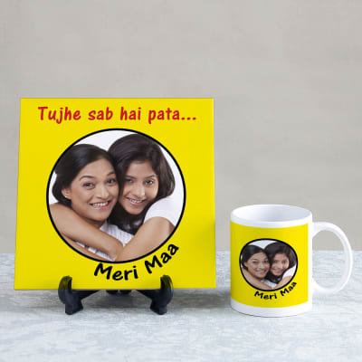 Tujhe Sab Hai Pata Maa Personalized Tile Mug