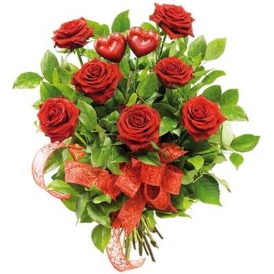 Two hearts bouquet