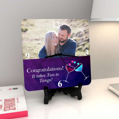 Two to Tango Personalized Wedding Clock