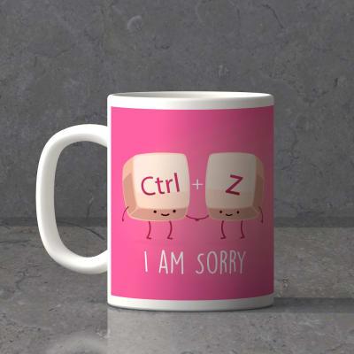 Undo and Reverse Personalized I am sorry Mug