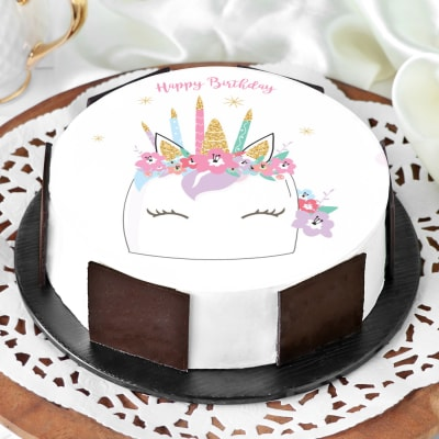 Awe Inspiring Order Unicorn Birthday Cake Half Kg Online At Best Price Free Birthday Cards Printable Riciscafe Filternl