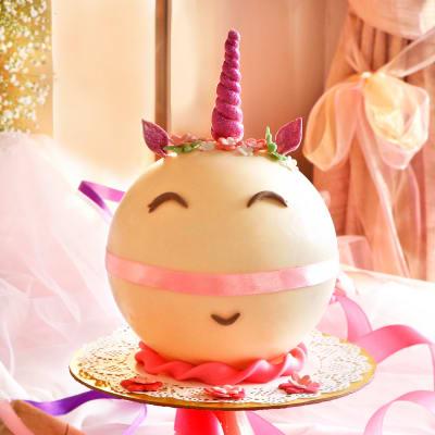 Unicorn Theme Chocolate Pinata Ball Cake (Eggless) (1 Kg)