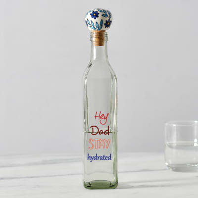 Unique Water Bottle with Ceramic Lid