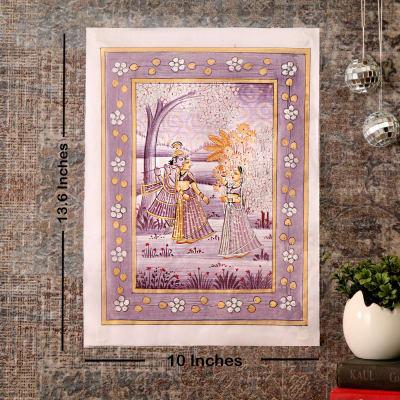 Unrequited Love Ragini Silk Painting