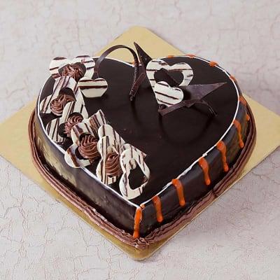 Valentine Heart Shape Chocolate Cake (1 Kg)
