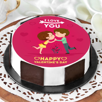 Incredible Order Valentine Kissing Proposal Cake Half Kg Online At Best Price Birthday Cards Printable Inklcafe Filternl
