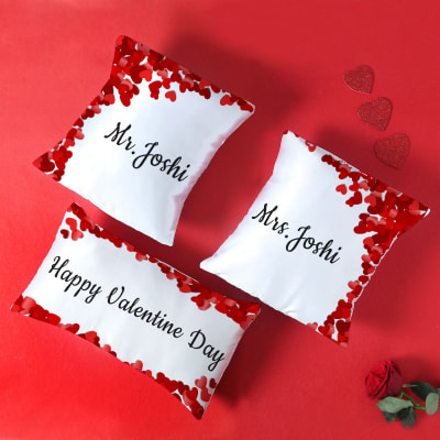 Valentine's Special Personalized Cushion Set