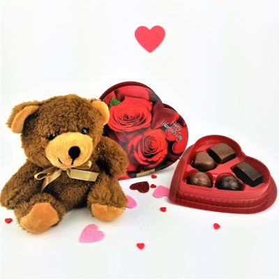 Valentine Special Assorted Chocolates with Teddy