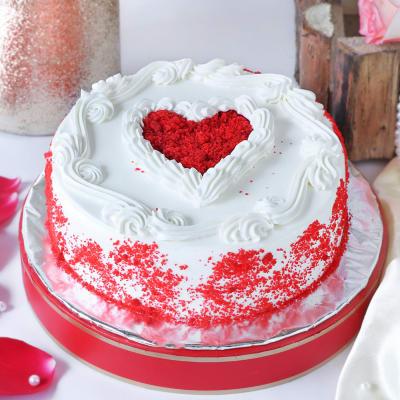 Valentine Special Red Velvet Cake (Eggless) (1 Kg)