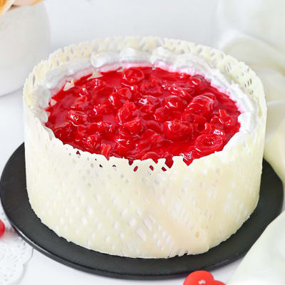 Vanilla Cake with Cherry Toppings (1 Kg)