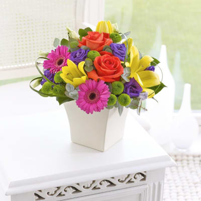 Send gifts to uk from india best gifts to london free gift vibrant exquisite arrangement negle Choice Image