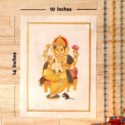 Vishwaraja Gold Idol Silk Painting