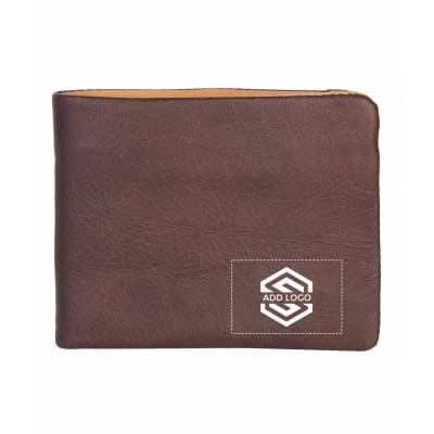 VT Brown Midas Leather Wallet - Customizable with Logo