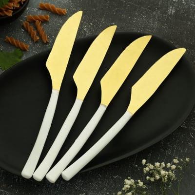 Warm White Knives (Set of 4)