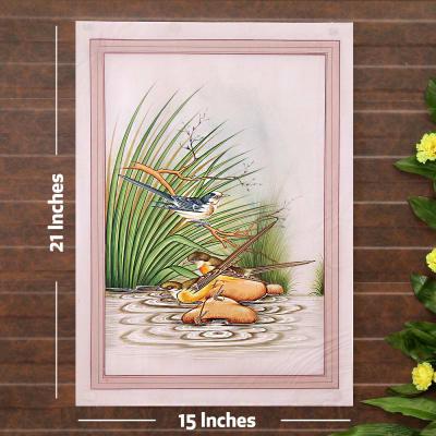 Water World Bird Silk Painting