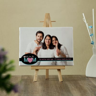 We Love You Mom Personalized Table Canvas