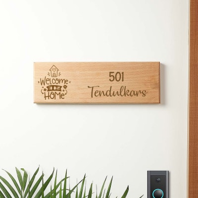 Welcome Home Personalized Name Plate