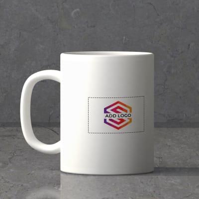 White Ceramic Mug (250ml) - Customized with Logo Image And Name