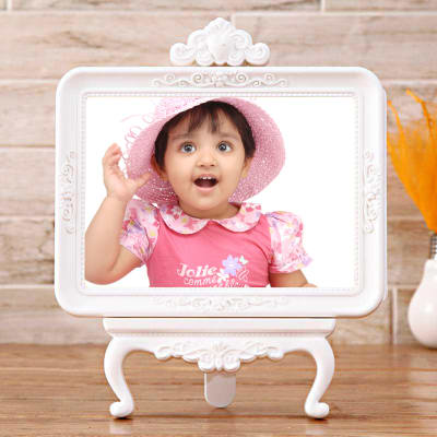 Baby shower gifts for sister online baby shower gift for sis godh white personalized photo frame negle Choice Image