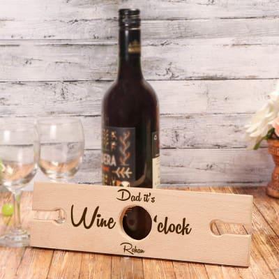 Wine O'Clock Personalized Wine Bottle Holder