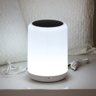 Wireless Bluetooth Speaker With Colorful Touch LED Light Lamp
