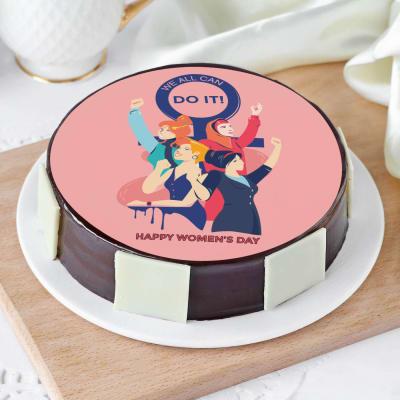 Women's Day Special Photo Cake (Half Kg)